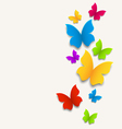 Spring card with butterflies colorful composition vector image