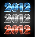 happy new year 2012 message set vector image