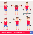 men workout set2 vector image