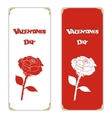Set of two white and red vertical banner With the vector image