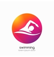 Swimming represents active people sport vector image