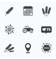 Agricultural icons Wheat corn or Gluten free