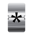 Alphabet silver flipboard letters star vector image