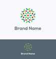 Apple tree nature logo vector image vector image
