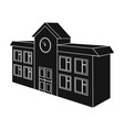 architectural building of school college college vector image vector image