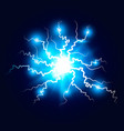 ball lightning plasma sphere electric discharge vector image