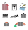 Barcode set icons vector image vector image