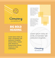 basketball company brochure title page design vector image vector image