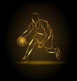 basketball man silhouette vector image