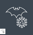 bat carrier coronavirus thin line icon vector image