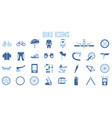 bike suit tool icon set vector image vector image
