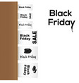 black friday collection of clothing labels vector image