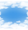 blue sky with clouds abstract background vector image vector image