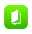 book with bookmark icon digital green vector image vector image