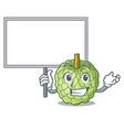 bring board sugar apple fruit isolated on cartoon vector image vector image