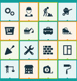 building icons set collection of home equipment vector image vector image