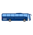 bus flat icon and logo cartoon vector image vector image