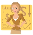 Business woman in ochre suit vector image vector image