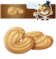 Butter cookie cartoon icon