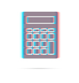 Calculator anagliph icon with shadow vector image vector image