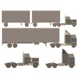 cargo trucks with trailers fast service delivery vector image