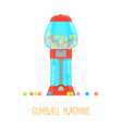 cartoon gumball machine vector image vector image