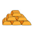 cartoon image of gold bars icon gold symbol vector image vector image