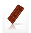 chocolate bar icon vector image vector image