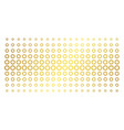 cogwheel golden halftone matrix vector image