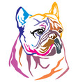 colorful decorative portrait of dog french vector image vector image