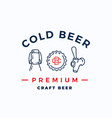 craft cold beer abstract beer sign emblem vector image vector image