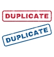 Duplicate Rubber Stamps vector image vector image