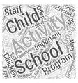 effective after school activities Word Cloud vector image vector image