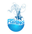 fishing design silhouette vector image