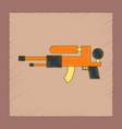 flat shading style icon kids water gun vector image vector image