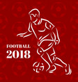 football players pattern vector image vector image