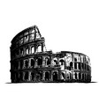fro italy colosseum building landmark vector image