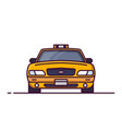 front view of taxi car vector image vector image