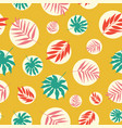 hand drawn tropical leaves in white bubbles vector image vector image