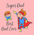 happy father day cartoon style greeting card vector image vector image