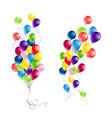 holiday balloons set vector image vector image