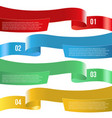 infographic ribbon banners different color vector image vector image