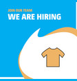 join our team busienss company shirt we are vector image vector image