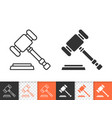 law simple black line icon vector image