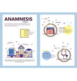 line art anamnesis poster banner template vector image vector image