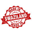 made in swaziland round seal vector image vector image
