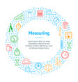measuring thin line banner card circle vector image vector image