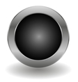 metallic button vector image vector image