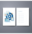modern marketing and sales target flat icon cards vector image vector image