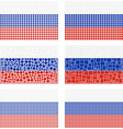Mosaic Russia flag set vector image vector image